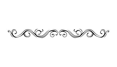 Granica. Vintage filigran rama przewiń ornament grawerowanie granicy kwiatowy wzór retro styl antyczny. Projekt wektor