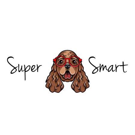 Cocker Spaniel in smart glasses.