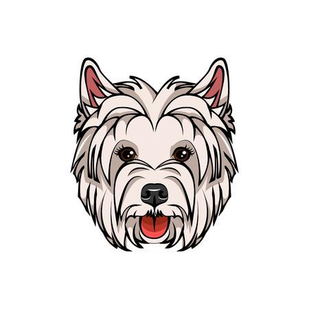 West Highland White Terrier portrait illustration isolated on white background. Zdjęcie Seryjne - 97989081