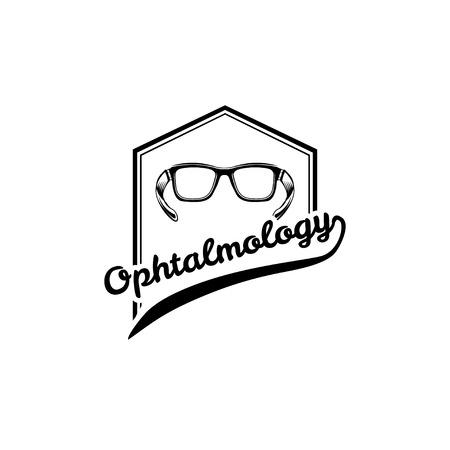 Eyeglasses. Ophthalmology badge.