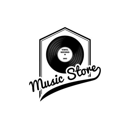 Vector vinyl record vector illustration. Illustration