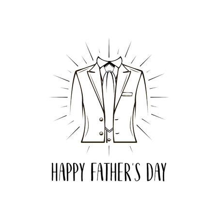 Man suit, bow tie. Fathers day greeting card.