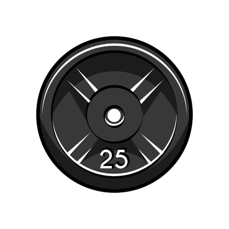 Weight lifting disc vector illustration on white background.