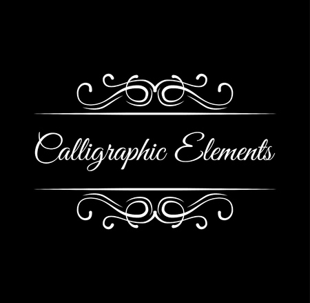 Calligraphic swirls design elements vector illustration
