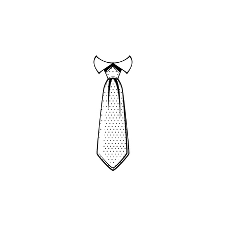 Necktie line icon.