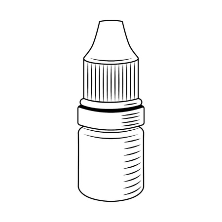 Eye Drop Bottle. Medical bottle for eyes. Vector illustration. Medicament badge. Stockfoto - 98953126