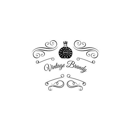 Brandy bottle icon. Illustration
