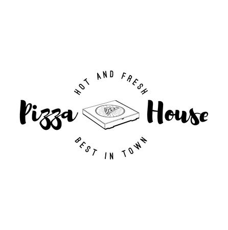 Pizzeria house icône illustration vectorielle Banque d'images - 99109794