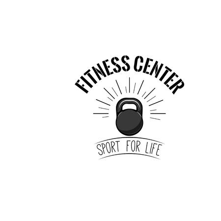 Kettlebell icon. Fitness design template, Fitness Logo. Sport badge Vector illustration