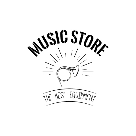 Horn  Music store icon vector illustration.