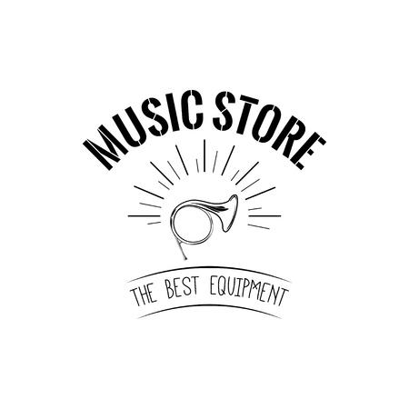 Trompette musique magasin icône illustration vectorielle Banque d'images - 99109799