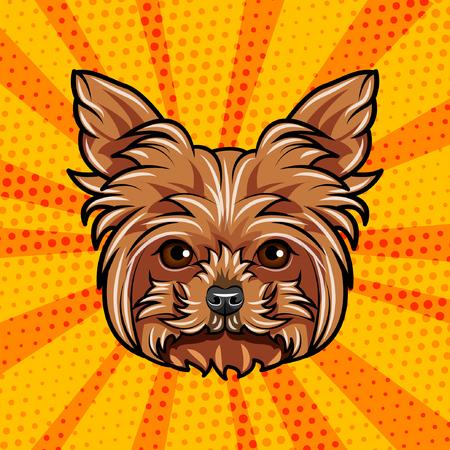 グリフォン犬の肖像画。犬の品種。犬の顔の頭。ベクトル図