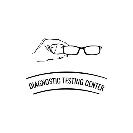 Eyeglasses icon vector illustration.