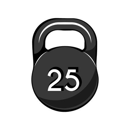 Kettle bell icon for Sport, Fitness, Bodybuilding badge logo label umbel Vector illustration Illustration