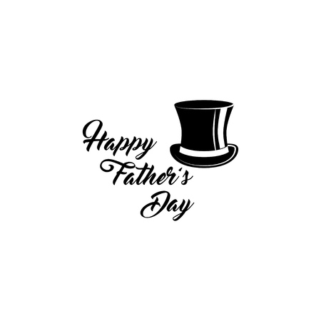Happy fathers day card. Top hat vintage accessory. Holiday greeting card design. Vector illustration. 일러스트