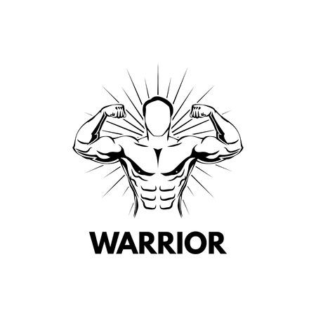 Strongman, Bodybuilder. Muscular man. Sportsman. Athlete Fitness Sport training Vector illustration  イラスト・ベクター素材