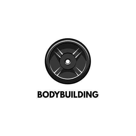 Barbell disk icon with Bodybuilding typography label.