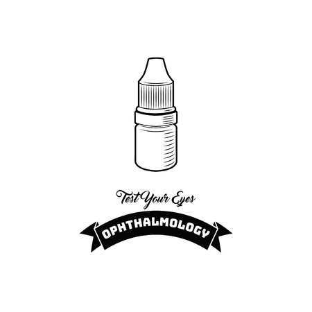 Eye drops icon illustration