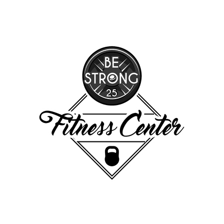 Weight disk icon. Kettlebell. Fitness center badges, logo label. Sport equipment. Gym icon. Vector illustratiom Illustration