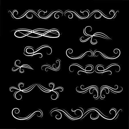 Scroll filigree elements design
