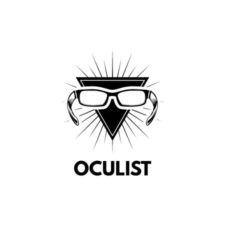 Oculist badge, eye clinic logo label illustration. 写真素材 - 100430597