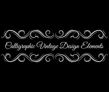 Ornate scroll, decorative design elements. Vintage Vignette Borders . Calligraphic vintage design element. Vector illustration