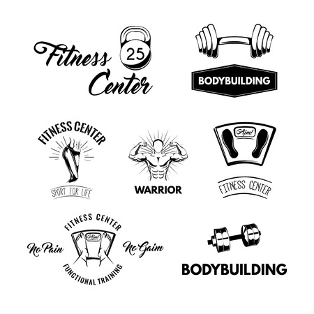 Fitness icons set Illustration