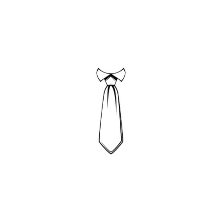 Necktie icon. Tie. Mens accessory. Clothing item. Fathers day design, Groom symbol. Design element.