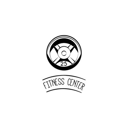 Fitness center logo label badge. Illustration