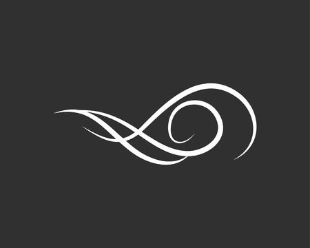 Flourish filigree scroll. Swir, Wave. Vintage element, page decoration. Ornate frame and scroll element. Wedding invitation design. Vector illustration. Illustration