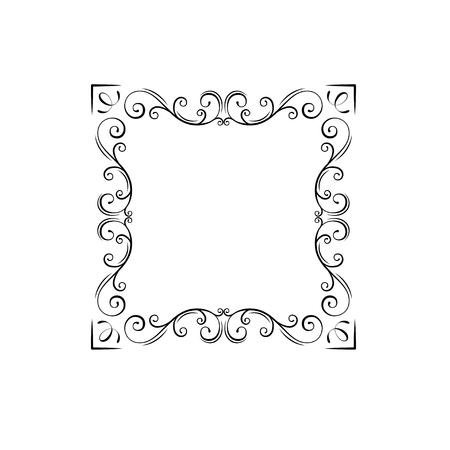 Decorative vintage frames, borders. Swirls, Ornamental decorative dividers. Filigree corners. Wedding invitations, Holiday greeting cards. Vector illustration.