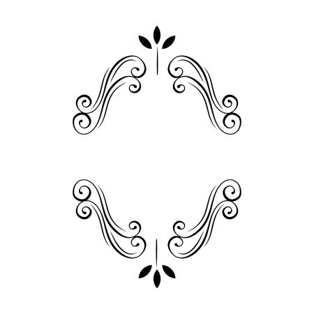 Cornice floreale decorativa ovale. Decorazione fiorita in filigrana. Ricciolo, ricciolo. Bordo della pagina ornato. Invito a nozze, salva la data card, Holiday card. Illustrazione vettoriale.