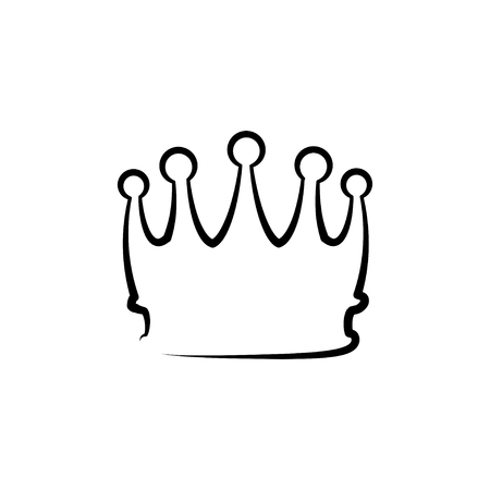 Crown line icon. Royal badge. King, queen symbol. Vector illustration. 向量圖像