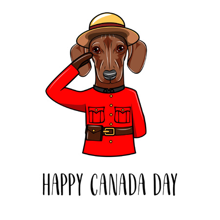 Dachshund dog happy canada day greeting card dachshund wearing dachshund dog happy canada day greeting card dachshund wearing in form of the royal m4hsunfo