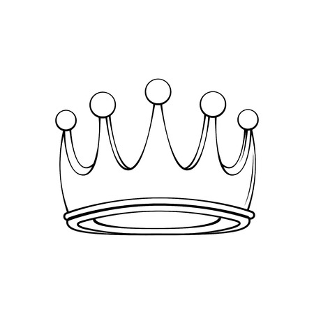 Crown of the king or royal crown line art icon for apps and websites. Design element. Vector illustration.