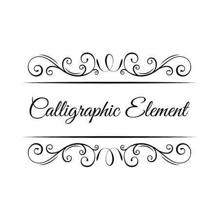 Pagina-decoratie. Kalligrafische elementen. Vintage sierlijke frames, decoratieve ornamenten, bloeien en scroll elementen. Wervelingen, krullen. Uitnodiging bruiloft, wenskaart. Vector illustratie.