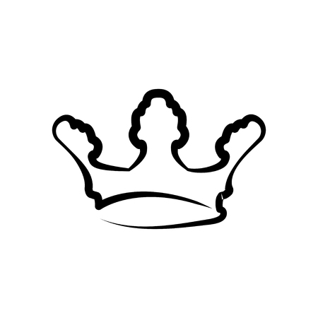Crown line icon. King or royal crown line art icon for apps and websites. Design element. Vector illustration.
