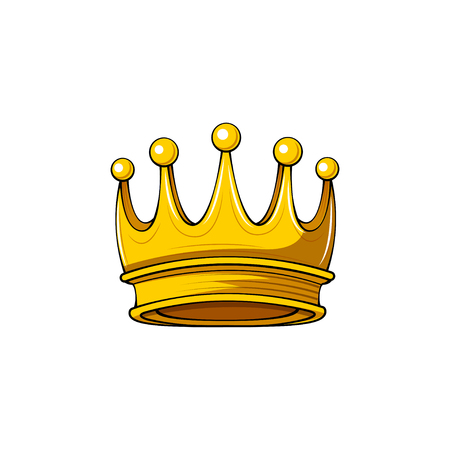 Golden Crown. Royal symbol. Design element. Vector illustration.
