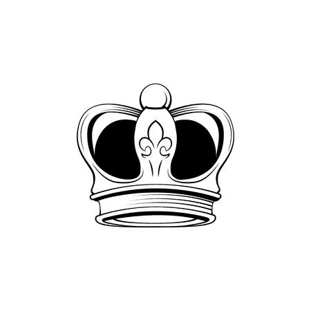 Royal crown icon. Imperial symbol. Design element. Vector illustration.