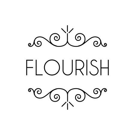 Flourishes design elements. Calligraphic floral page decorations. Swirls, filigree ornate frame. Wedding invitation, Menu design, Greeting card design. Vector illustration.
