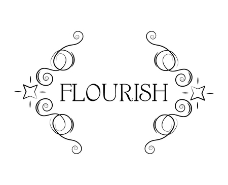 Calligraphic frame, decorative flourish pattern. Classic floral vintage design element. Page filigree decoration, border, divider. Menu design, Wedding invitation, Greeting card. Vector illustration.