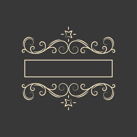 Vintage filigree flourish frame. Page decoration. Ornamental elegant calligraphic floral page divider. Wedding invitation, Greeting card. Vector illustration.
