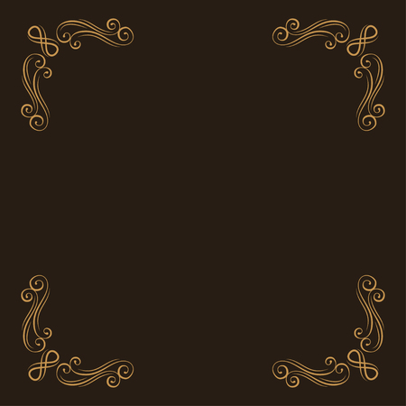 Ornamental corners. Filigree decorative page dividers. Calligraphic design element. Vector illustration. Illustration
