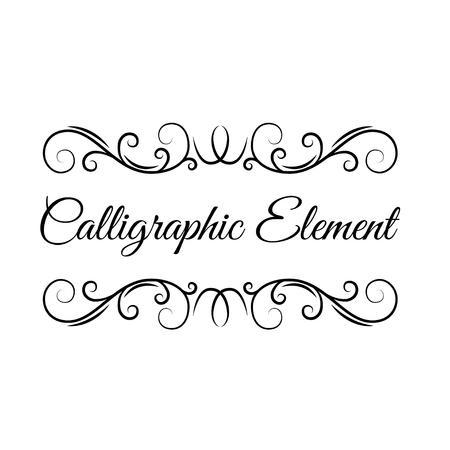 Calligraphic flourish frame. Decorative filigree elements. Swirls, scroll elements. Floral pattern. Vintage style. Save the date card, Wedding invitation, Greeting card design. Vector illustration.