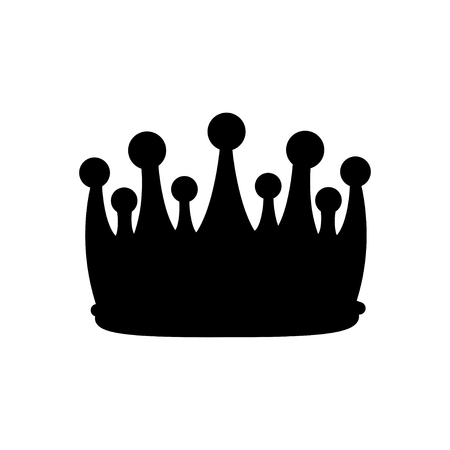 Crown silhouette. Royal symbol. Design element. Vector illustration isolated on white background.