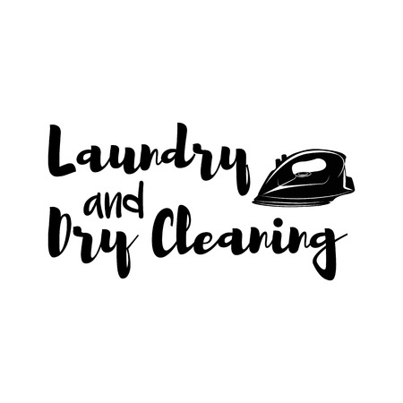 Iron ico. Dry cleaning label. Design element.