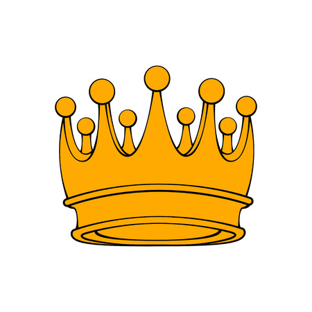 Creative Crown icon. Royal sign. Luxury badge. Vector illustration.
