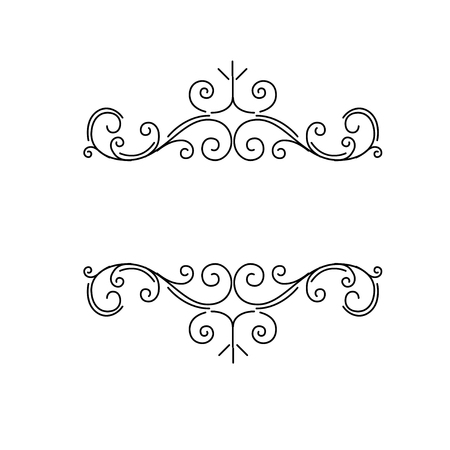 Ornamental borders, flourish vintage page dividers, royal ornament swirls and classical decoration elements. Vector illustration.