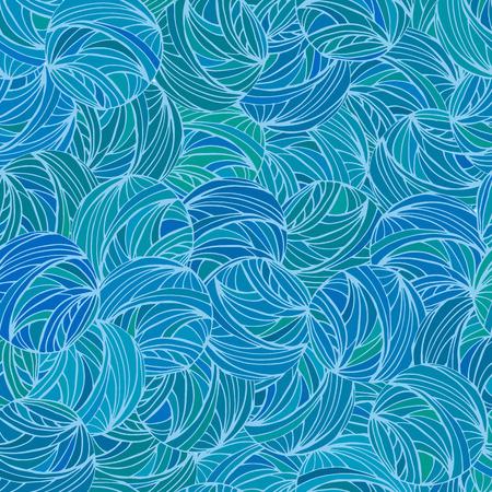 blue circles: Abstract blue circles seamless pattern