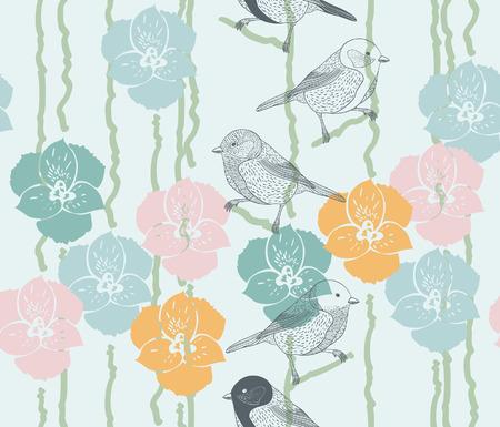 Seamless natural pattern Vector eps10 Illustration